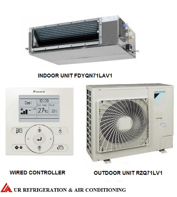 DAIKIN ducted system air conditioner. Model: FDYQN71L