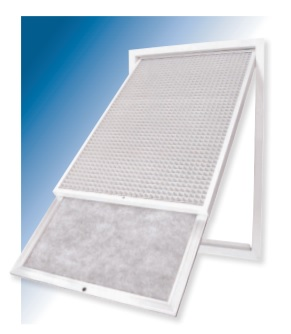 Hinged Return air grille with filter 400x400 mm