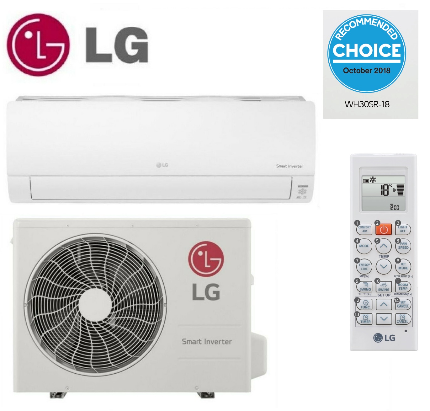 LG Air conditioner. Model no:WH30SR-18